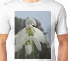 Snowdrops In The Forest Unisex T-Shirt