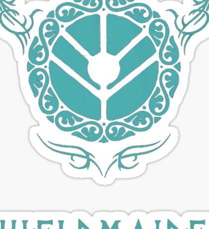 Lagertha Shieldmaiden Shirt Sticker