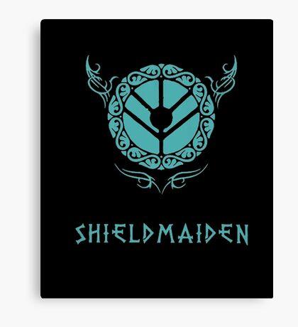 Lagertha Shieldmaiden Shirt Canvas Print