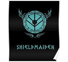 Lagertha Shieldmaiden Shirt Poster