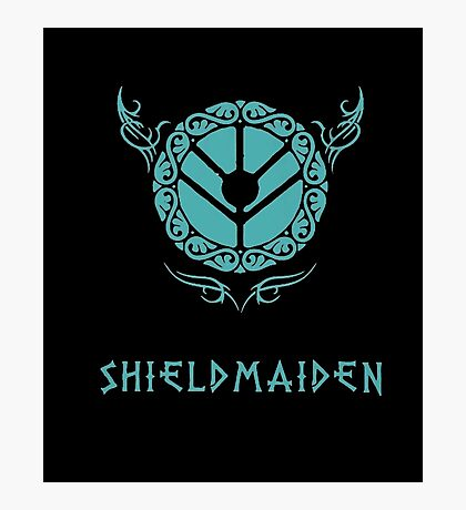 Lagertha Shieldmaiden Shirt Photographic Print