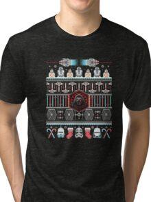 Festive Christmas Scifi Ugly Sweater T-Shirt Tri-blend T-Shirt