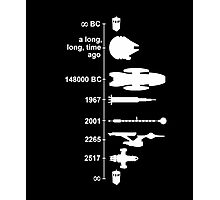 SPACE SHIP TIMELINE T-Shirt Photographic Print