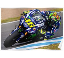 valentino rossi race Poster
