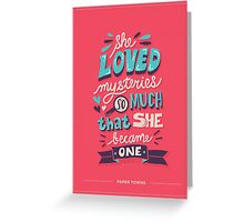 Paper Towns: Mysteries Greeting Card