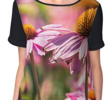 Gerber flowers in a garden Chiffon Top