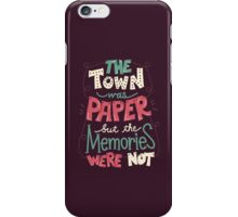 Paper Towns: Town and Memories iPhone Case/Skin