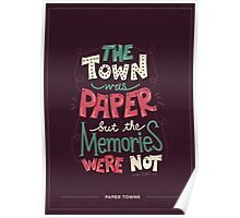 Paper Towns: Town and Memories Poster