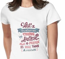 Paper Towns: Treacherous Thing Womens Fitted T-Shirt