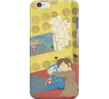 The Doctor Hugging a Tardis in color iPhone Case/Skin