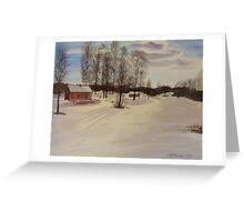 Snow In Solbrinken Greeting Card