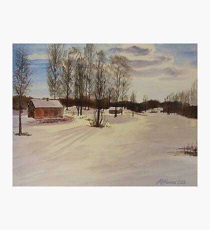 Snow In Solbrinken Photographic Print