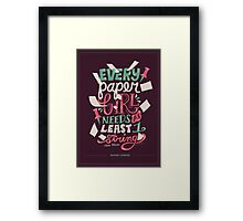 Paper Towns: Paper Girl Framed Print