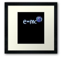 Whovian T-Shirt: Relativity of Space and Time Framed Print