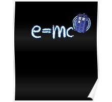 Whovian T-Shirt: Relativity of Space and Time Poster