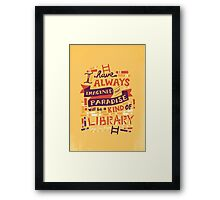 Library Framed Print