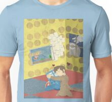 The Doctor Hugging a Tardis in color Unisex T-Shirt