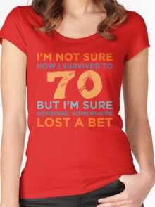 70th Birthday Survival Women's Fitted Scoop T-Shirt