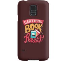 Certified Book Addict Samsung Galaxy Case/Skin