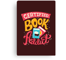 Certified Book Addict Canvas Print
