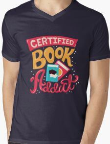 Certified Book Addict Mens V-Neck T-Shirt