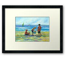 THREE LITTLE BEACH BOYS II Framed Print