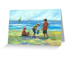 THREE LITTLE BEACH BOYS II Greeting Card