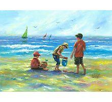 THREE LITTLE BEACH BOYS II Photographic Print