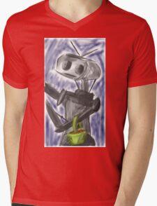 Robot Picking Pretty Shiny Organic Orbs Mens V-Neck T-Shirt