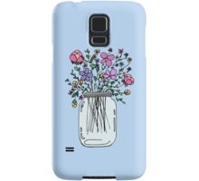 Mason Jar with Flowers Samsung Galaxy Case/Skin