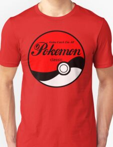 Pokeball Classic in Black T-Shirt