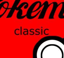 Pokeball Classic in Black Sticker