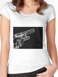 Gun  Women's Fitted Scoop T-Shirt