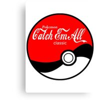 Catch Em All Ball in White Canvas Print