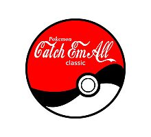 Catch Em All Ball in White Photographic Print