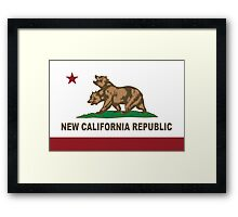 New California Republic Flag Original  Framed Print