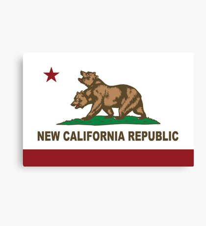 New California Republic Flag Original  Canvas Print