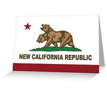 New California Republic Flag Original  Greeting Card