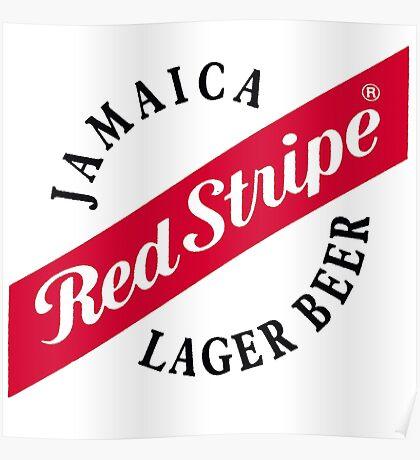 red stripe Poster