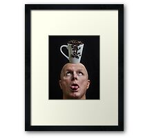 Spilling The Beans Framed Print