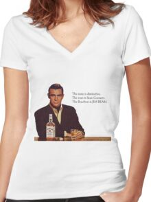 The Bourbon of Sean Connery Women's Fitted V-Neck T-Shirt