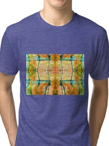 Autumn color orange Tri-blend T-Shirt