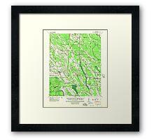 USGS TOPO Map Arkansas AR Holly Grove 260094 1940 62500 Framed Print