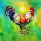 Rooster Strut by Sherry Cummings