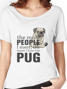 i love pug Women's Relaxed Fit T-Shirt