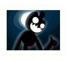 Spooky Chester in the Dark Art Print