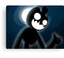 Spooky Chester in the Dark Canvas Print