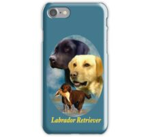 Labrador Retrievers Breed Art with Nameplate iPhone Case/Skin