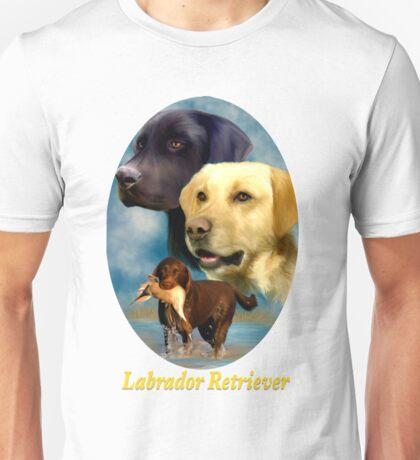 Labrador Retrievers Breed Art with Nameplate Unisex T-Shirt