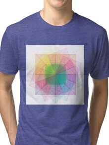 Sacred Geometry cubed orb Tri-blend T-Shirt